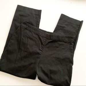 Talbots flat front black pants cropped